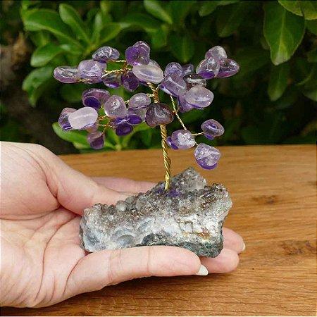 Árvore de Pedra Ametista (Arvore da Felicidade) 13cm