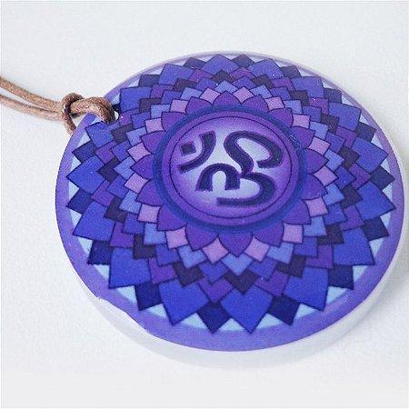 Colar Mandala Espiritualidade em Acrílico
