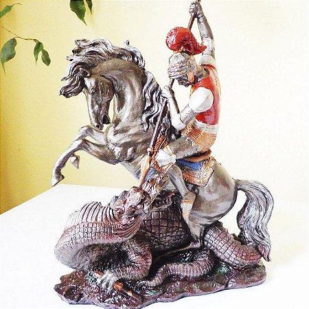 Estátua de São Jorge Força e Coragem