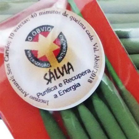 Incenso Natural Salvia - Purificante Energizante