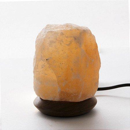 Luminária de Sal Rosa do Himalaia com cabo USB