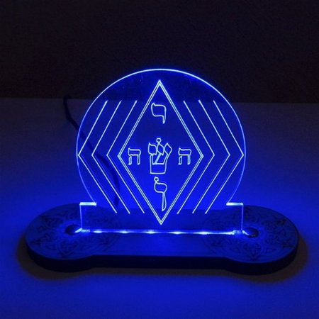 Luminária IOSHUA Proteção e Amor de Led Azul