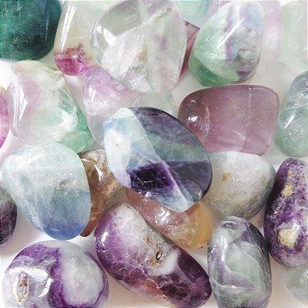 Pedra Fluorita Arco Iris Rolada 50g