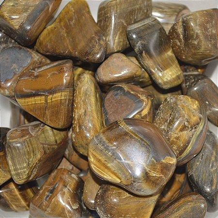 Pedra Natural Olho de Tigre Rolada 70gr