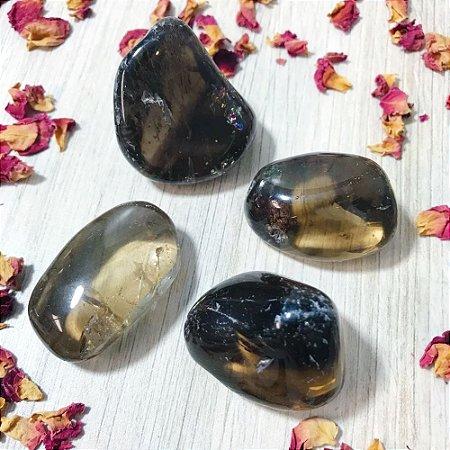 Quartzo Fumê (Cristal de Aterramento) Pedra Rolada Pc 100g