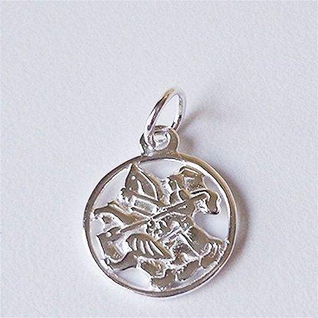 Pingente São Jorge Mini em Prata 925