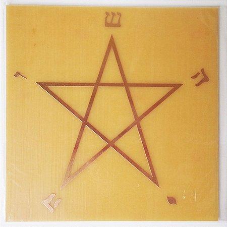Placa Estrela Pentagrama G - Gráfico em Cobre