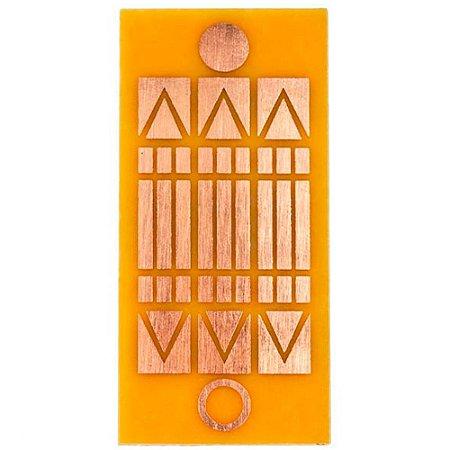 Placa Luxor - Gráfico em Cobre 5 x 10cm