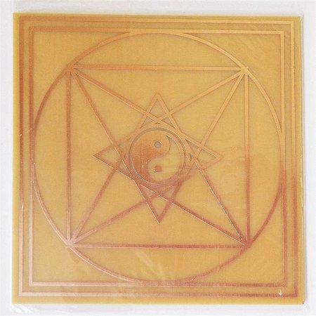 Placa Pirâmide de Tao G Gráfico em Cobre