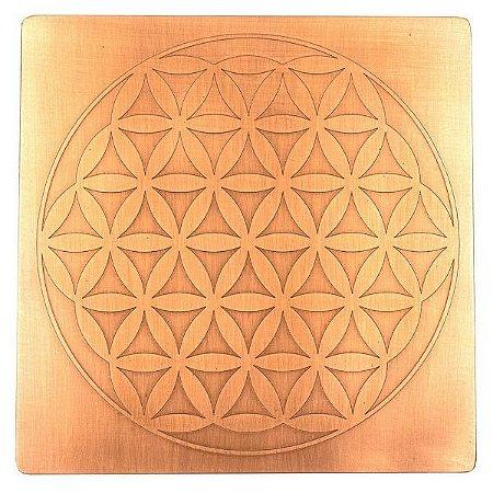 Placa Radiônica Flor da Vida - Cobre Maciço