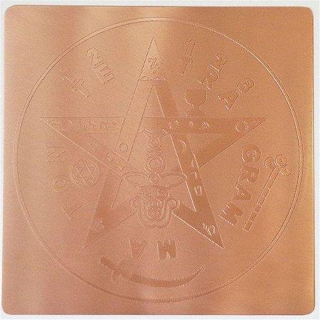 Placa Tetragrammaton  Cobre Maciço