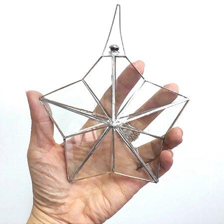 Prisma d'água Estrela 5 Pontas Juntas Metálicas 14cm