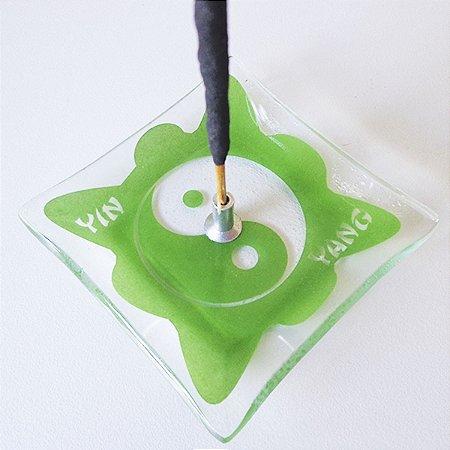 Incensário de Vidro Ideograma Yin Yang