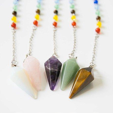 Pêndulo 7 Chakras de Pedras Naturais