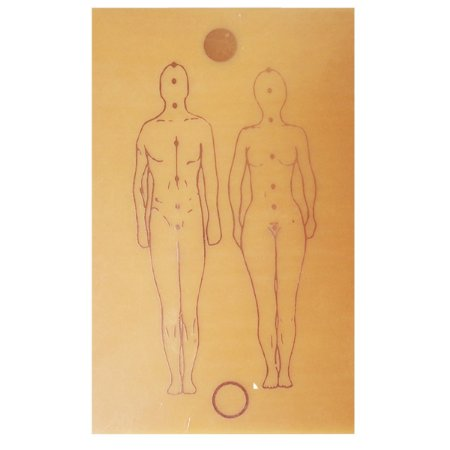 Placa Figura Humana G- Gráfico em Cobre