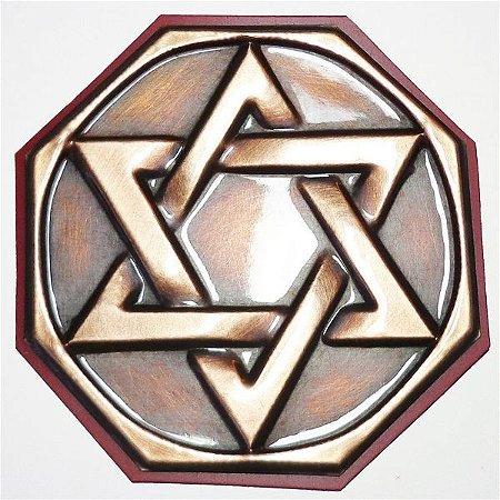 Quadro Hexagrama Cobre