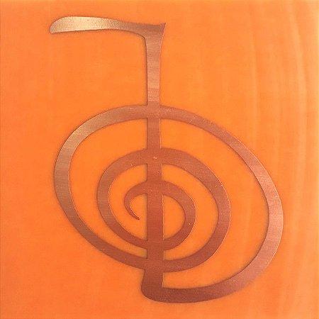 Placa de Reiki - Gráfico em Cobre - Tamanho G