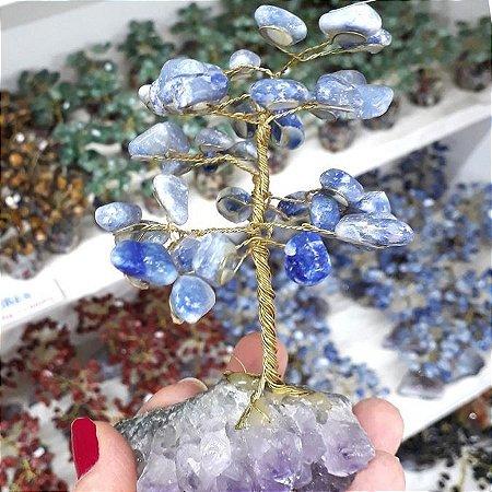 Árvore de Pedras Quartzo Azul 13cm