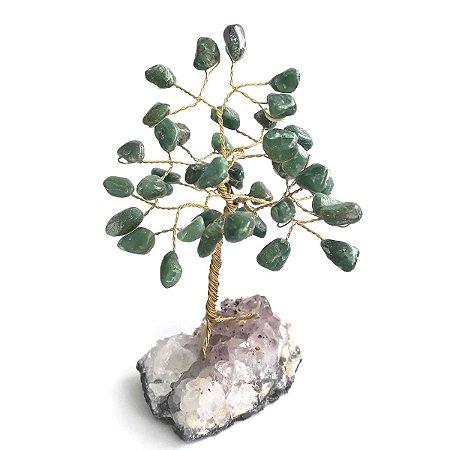 Árvore de Pedras Quartzo Verde 13cm