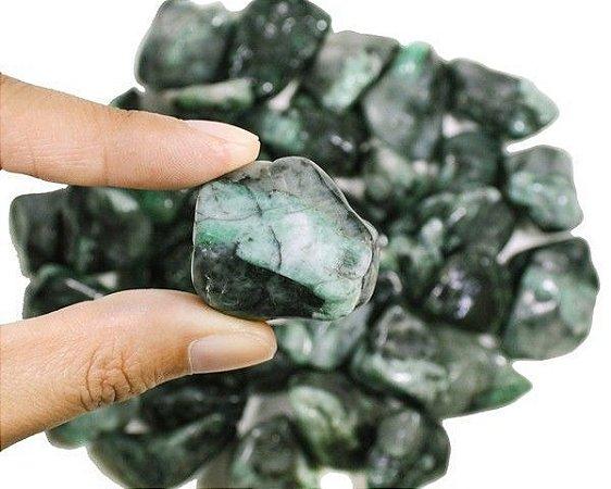 Pedra Esmeralda Rolada Pac 100g