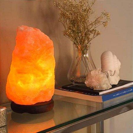 Luminária de Cristal de Sal do Himalaia 2,5kg