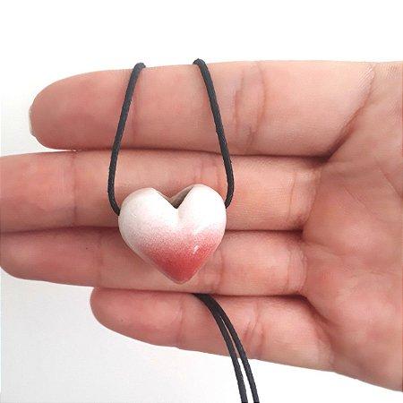 Colar Aromatizador Pessoal cerâmica - Coração