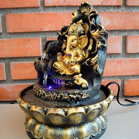 Fonte de Água Decorativa Ganesha da Sabedoria