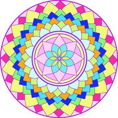 Adesivo Para Parede Mandala da Alegria 60cm