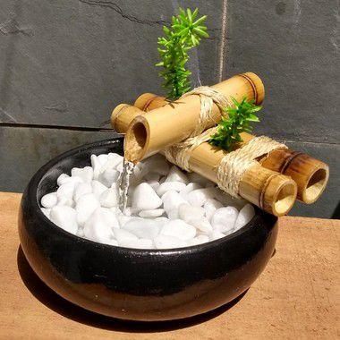 Fonte de Água Bambu Feng Shui