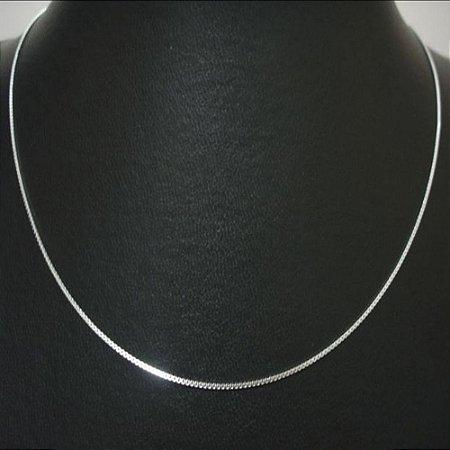 Corrente Veneziana fina prata lei 60cm