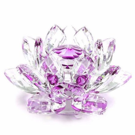 Flor de Lótus de Cristal Efeito Violeta M