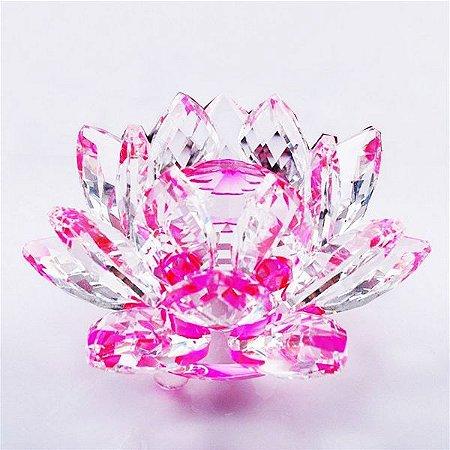 Flor de Lótus de Cristal Efeito Rosa G