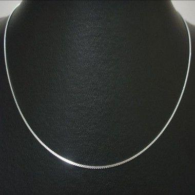 Corrente Veneziana fina prata lei 40cm