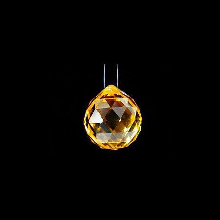 Cristal Multifacetado Feng Shui Amarelo 20mm