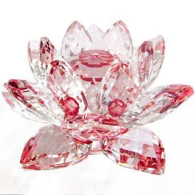 Flor de Lótus de Cristal Efeito Vermelho M