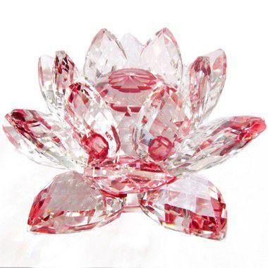Flor de Lótus de Cristal Efeito Vermelho G