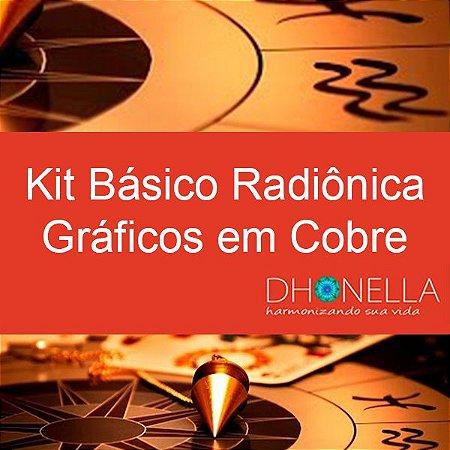 Kit Básico Radiônico Gráfico em Cobre