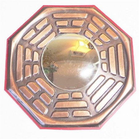 Baguá Espelhado de Cobre G - Espelho Convexo