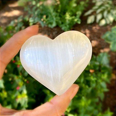 Coração de Selenita Branca 100g