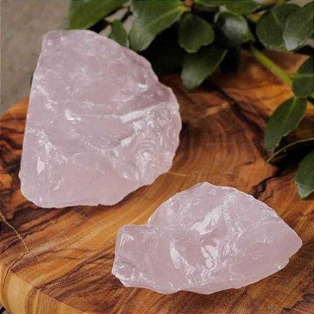 Pedra Quartzo Rosa Bruta 150g