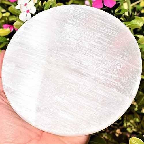 Disco ou Porta Copos de Selenita 12 cm