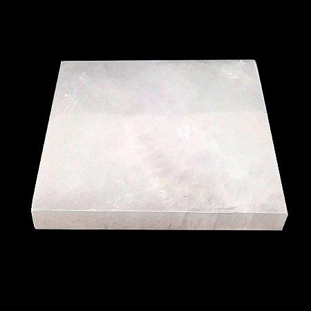 Placa de Selenita - Porta Copos De Pedra 10 cm