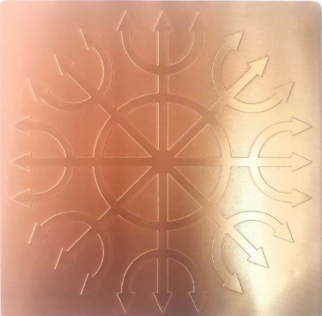 Placa Simbolo Devadatta - Cobre Maciço
