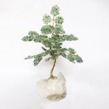 Árvore da Abundância de Quartzo Verde 13cm