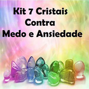 Kit 7 Cristais de proteção Medo e Ansiedade