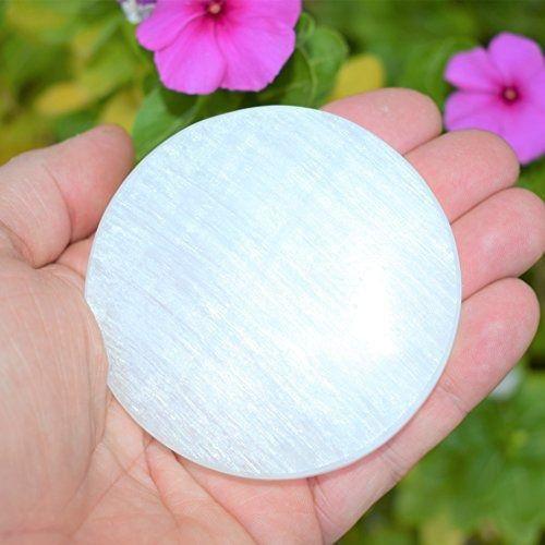 Disco ou Porta Copos de Selenita 9 cm