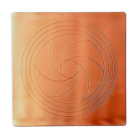 Placa Radiônica Diafragma 2 G - Cobre Maciço