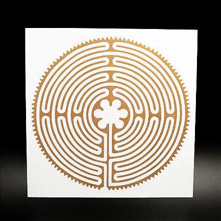Placa Radiônica Labirinto de Chartres em PVC