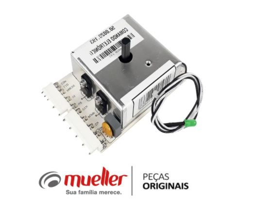 500020193 - Controle Eletrônico da Lavadora Mueller Pop matic / Energy Bivolt 8kg