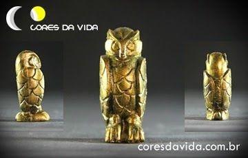 Coruja porta incenso FRETE GRÁTIS (cores especiais ouro e cobre, preço unitário)